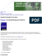 Knowledge Management Guidelines