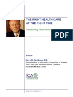 12 01 2009 the Right Health Care at the Right Time - Jacobson
