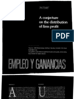 A Conjetura on the Distribution of Firm Profit