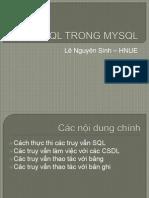 SQL Trong Mysql