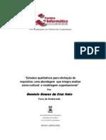NETO G. G. Estudos qualitativos para elicitação de requisitos