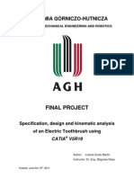 Specification, Design and Kinematic Analysis of an Electric Toothbrush Using CATIAV5R19