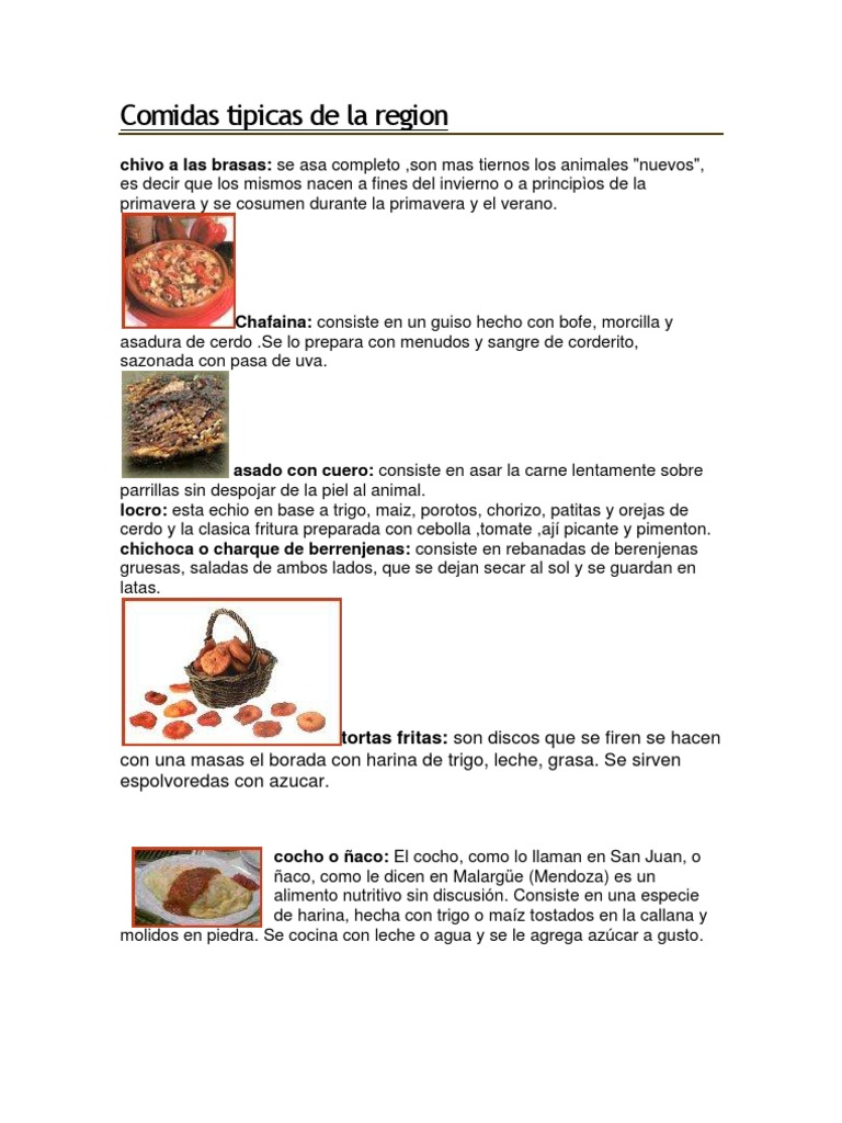 Comidas tipicas de la region for Comida tradicional definicion