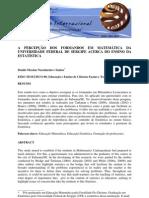 Microsoft Word - A Percepcao Dos Formandos Em a Da Universidade Federal de Sergipe Acerca Do Ensino Da a