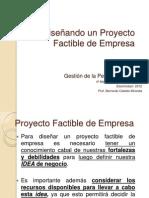 Diseñando un Proyecto Factible de Empresa