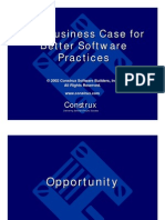 Business Case for Software Practices Keynote