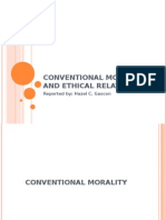 Conventional Morality and Ethical Relativism