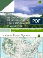 USDA Forest Service Development of the 2012 Land Management Planning Rule by Brenda Halter-Glenn