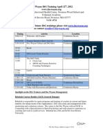 DocWayne Do the Good (DtG) Example Training Schedule (April 2012)