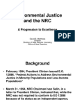 Environmental Justice and the NRC A Progression to Excellence by David B. Matthews