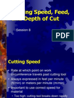 Cutting Speed Feed and DOC