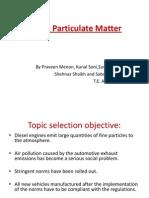 Diesel Particulate matter