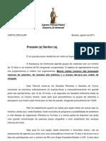 STF REGIMENTO DA VISITAÇÃO