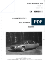 Citroen Cx Manual Series 1 Volume1