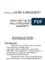 Who Can Be a Manager