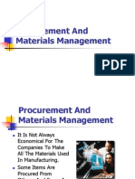 Procurement and Materials Management