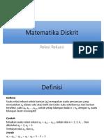 Matematika Diskrit - Relasi Rekursi