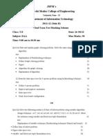 DAA Marking Scheme