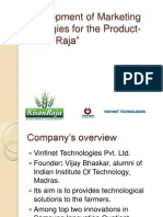 Development of Marketing Strategies for the Product Kisan