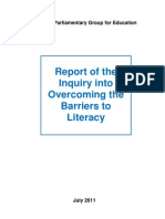 APPG for Education Literacy Inquiry Final Report