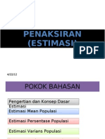 Penaksiran Estimation