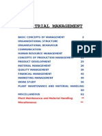 Industrial Management [HU 802] EI Organizer 2012