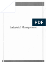 Industrial Management - Lecture 1