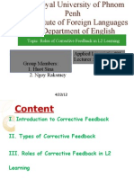 Roles of Corrective Feedback in L2 Learning E4.3(2011-2012)