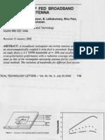 Planar L-strip Fed Broadband Micro Strip Antenna