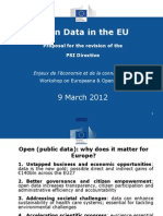 Open Data - Richard SWETENHAM - Commission Européenne