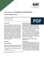 emerg. tracheostomy