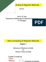 Semi-Conducting & Magnetic Materials-Week 1-Jan 9-2012