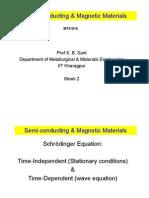 Semi-Conducting  Magnetic Materials-Week 2-Jan 16-2012