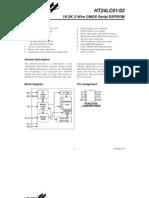 HT24LC01/02 CMOS serial EEPROM datasheet Holtek