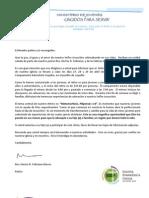 Carta y Permiso Retiro 2012