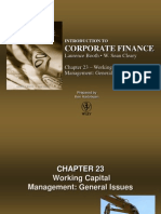 Chapter 23 - Working Capital Management - General Issues