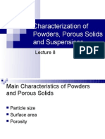MATE 280 Characterization of Powders and Porous Materials