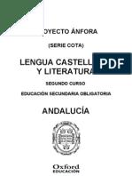 Programación Anfora Cota Lengua y Literatura 2 ESO Andalucia