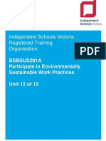 12  bsbsus201a participate in environmentally sustainable work practices v2