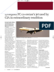 Liverpool FC co-owner's jet used by CIA in extraordinary rendition