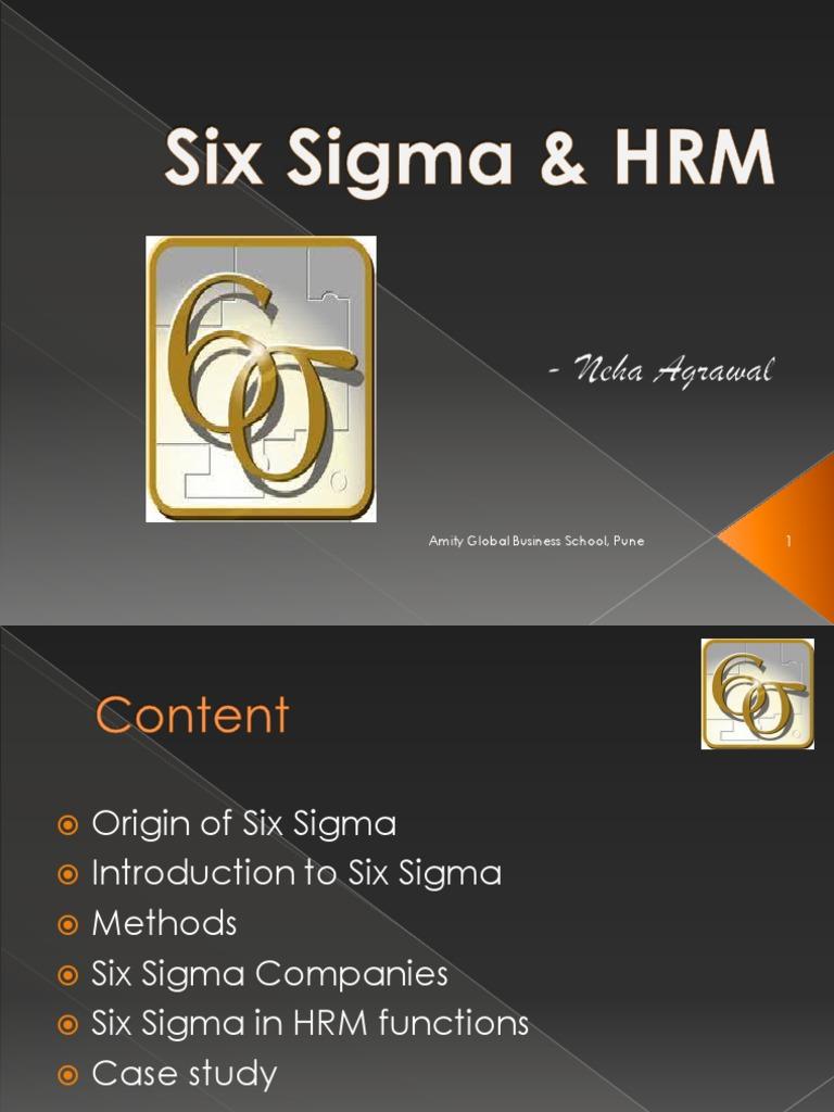 Six Sigma &