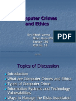 Computer Crimes and Ethics