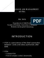 Early Diagnosis and Management of Pda