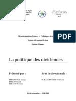 Politiques de dividendes