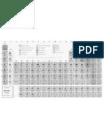 Tabela Periodica Completa Preto Branco