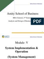 Module - V (System Implementation & Operation (System Management))Temp