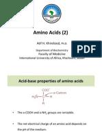 Amino Acids (2) IUA