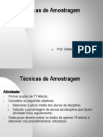 TECNICAS AMOSTRAGEM- Módulo Ic1