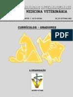 Curriculum Vitae's - Oradores XVI JORNADAS MED VET