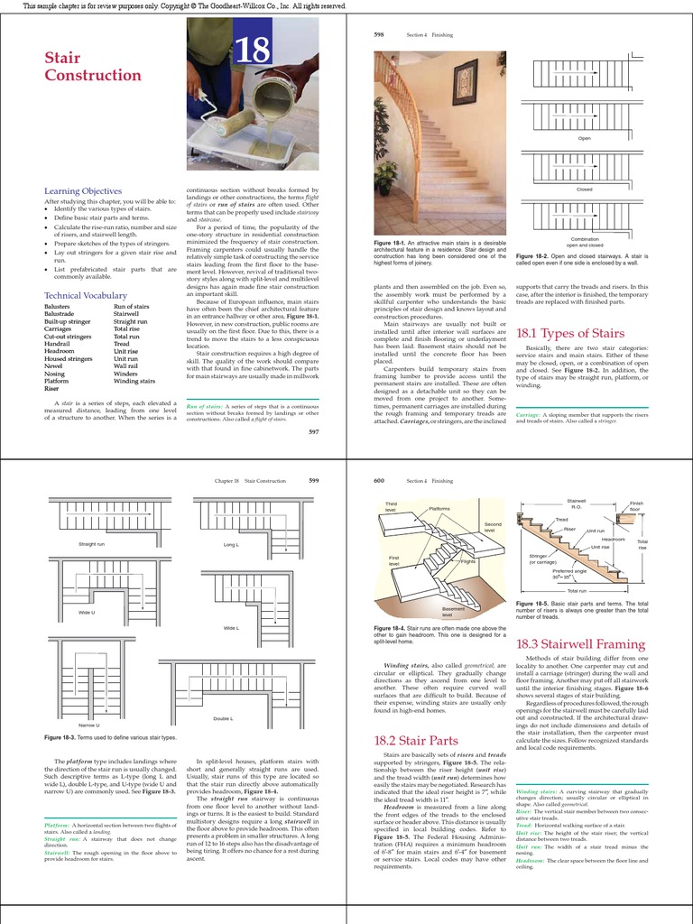 Stairs-sample Text CH18   Stairs   Framing (Construction)